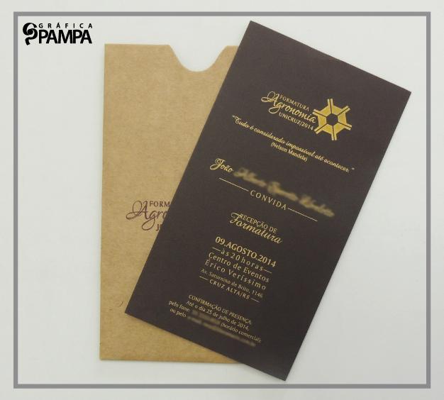 Convite Formatura Agronomia Ja Gráfica Pampa